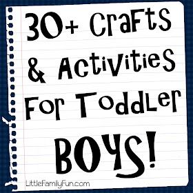 Crafts & Activities for Toddler Boys