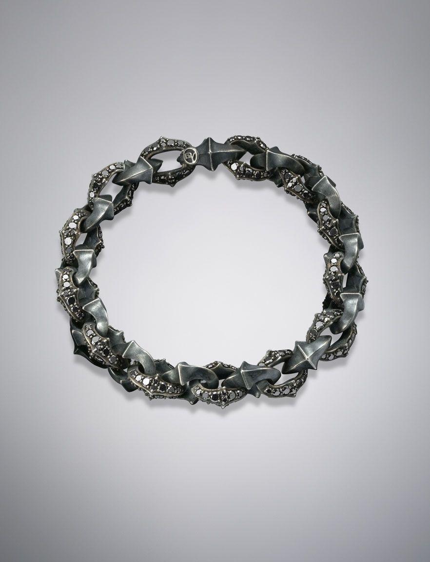 armory bracelet pave black diamonds men object du0027art armory david