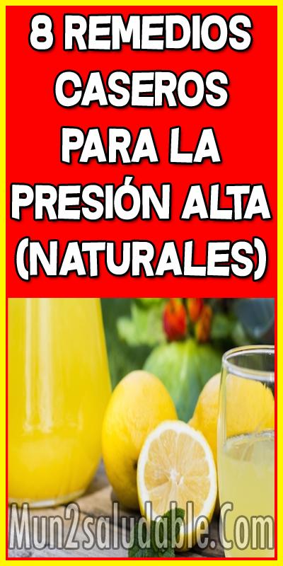 8 Remedios Caseros Para La Presión Alta Naturales Health Health And Wellness Natural Remedies