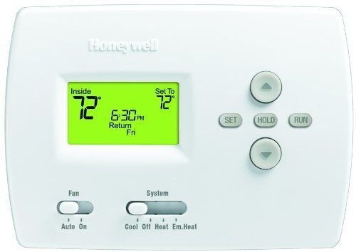 Th4210d 1005 Pro 2h 1c Program Stat By Honeywell 52 25 Th4210d1005 Honeywell Inc Th4210d 100 Home Thermostat Heating And Cooling Programmable Thermostat