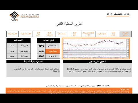 البورصة المصرية شركة عربية اون لاين التحليل الفني 16 8 2016 بورص Periodic Table Hull Map Screenshot