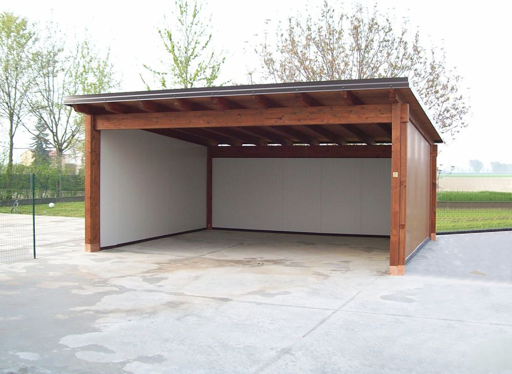 garage toit plat avec buché Гараж проект Pinterest Car ports