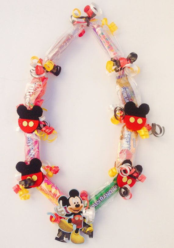 Mickey Mouse candy lei | Blake's 1st bday | Candy ...