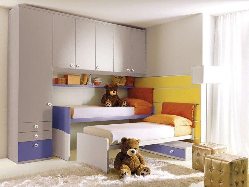 Letti Salvaspazio Bambini : Camerette bambini salvaspazio cameretta con letto con ruote
