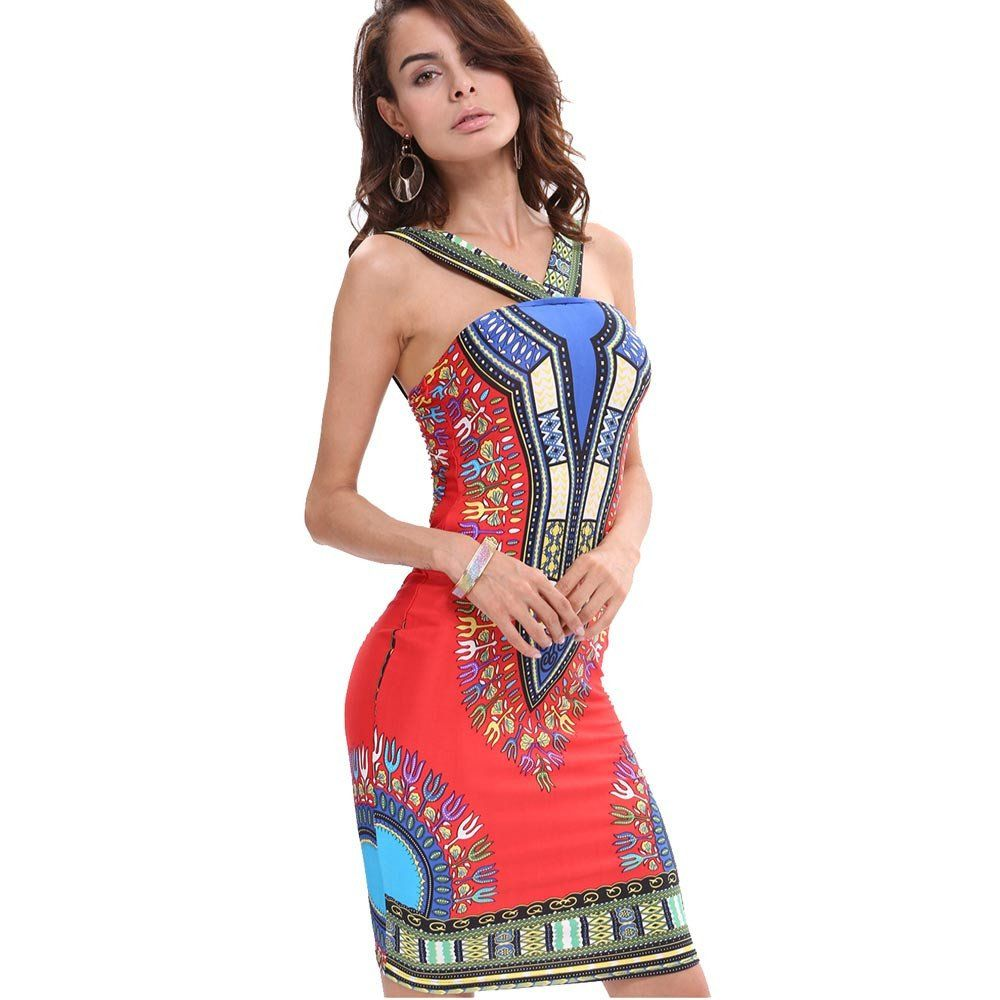 a3f8facba3e6d New Traditional African Print Dashiki Bodycon Dress | Fresh Africa ...