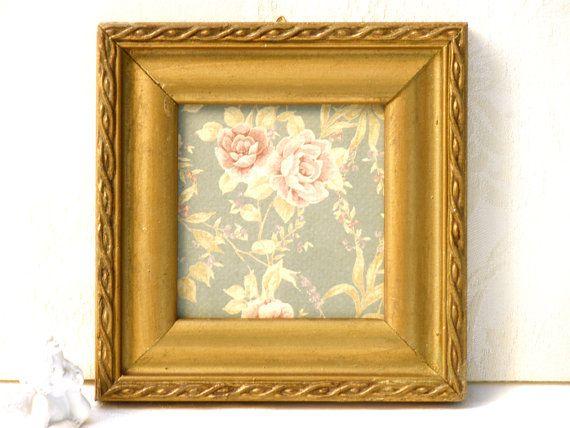 Shabby chic decor, Country home decor, Antique gold frame, Wall art ...
