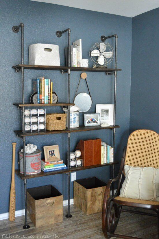 15 Creative DIY Shelves that will solve all of your storage needs and look pretty doing it!