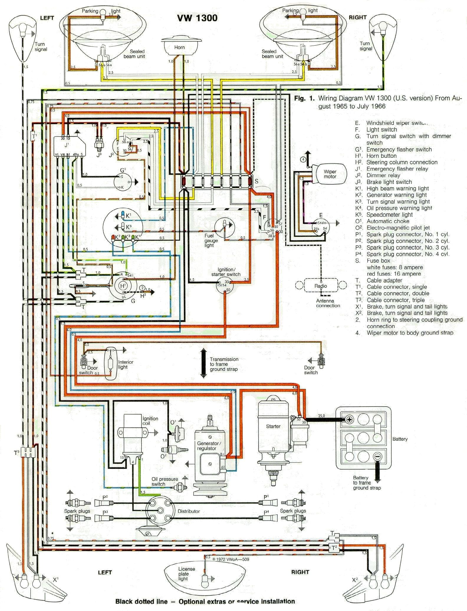 1966 Wiring Diagram | Vw beetles, Beetle, Vw beetle classicPinterest