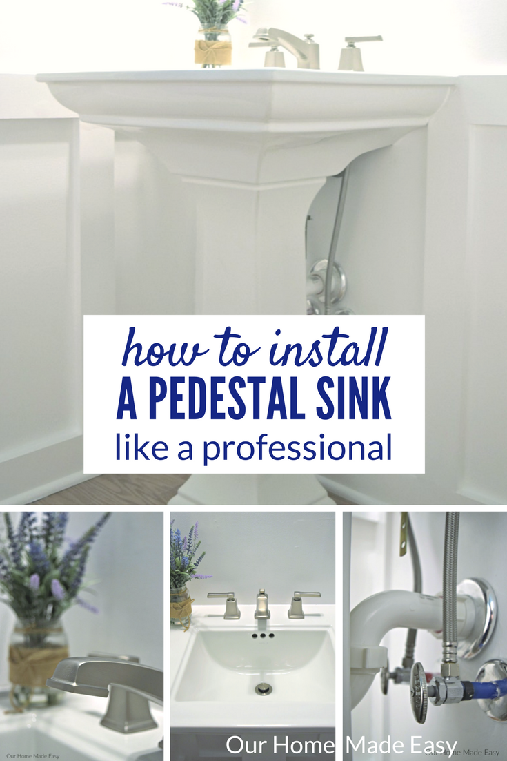 How to Install a Pedestal Sink [ORC Week 3] | Pedestal sink, Faucet ...