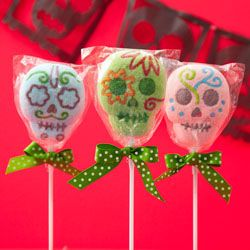 Last Chance Sale! - CLEARANCE! Skull Marshmallow Lollipops, Set of 3