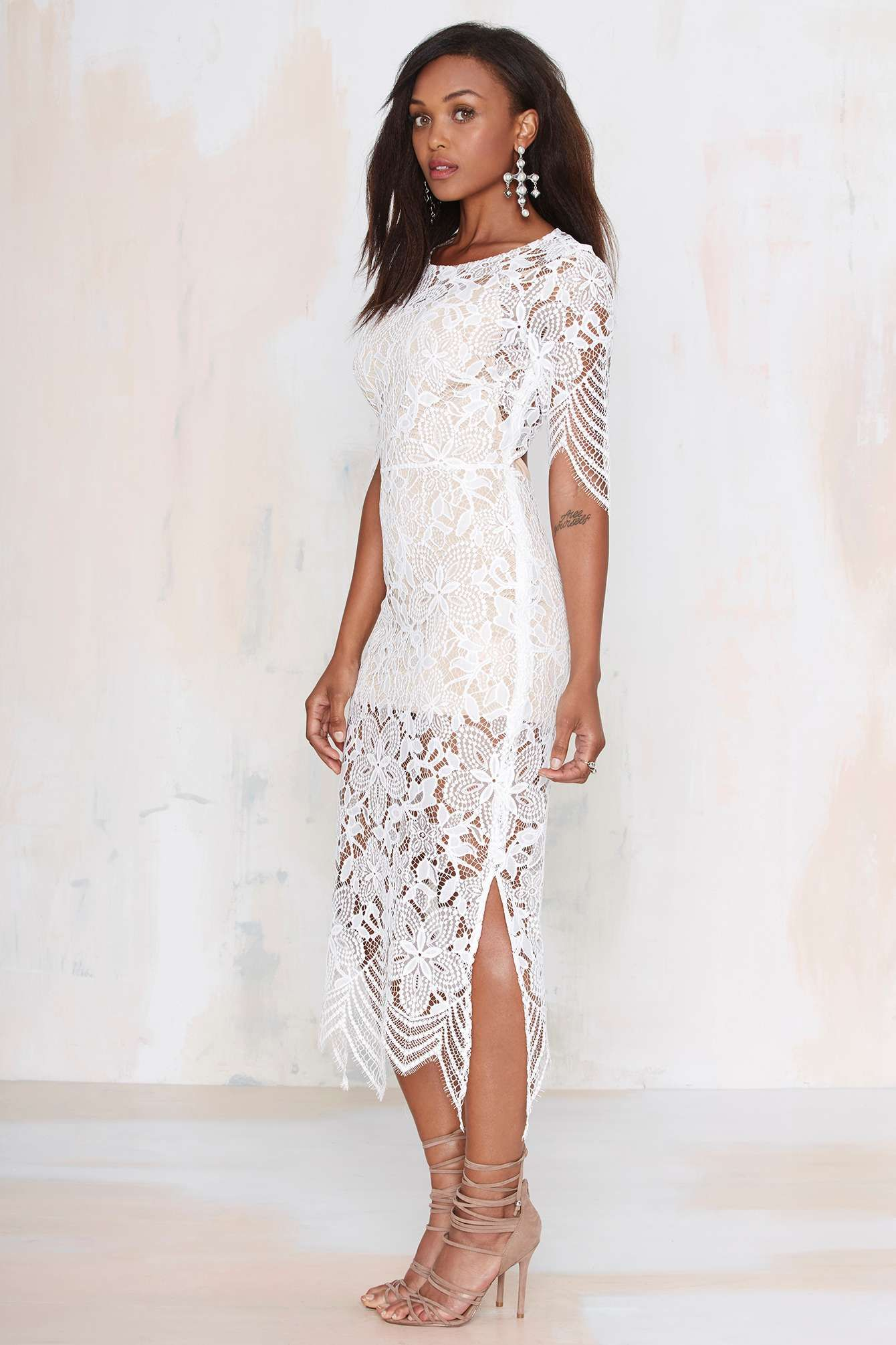 For Love and Lemons Luna Lace Dress at Nasty Gal