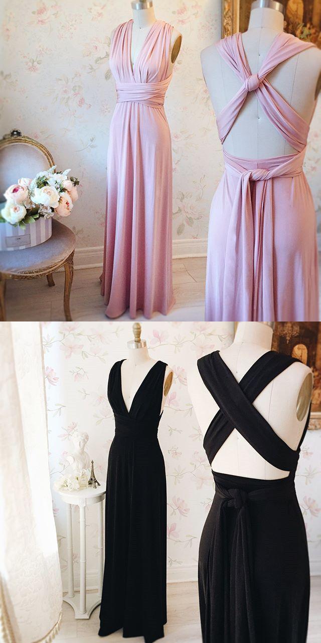 long prom dress 2017, pink long prom dress, black long prom dress, formal evening dress with criss cross back