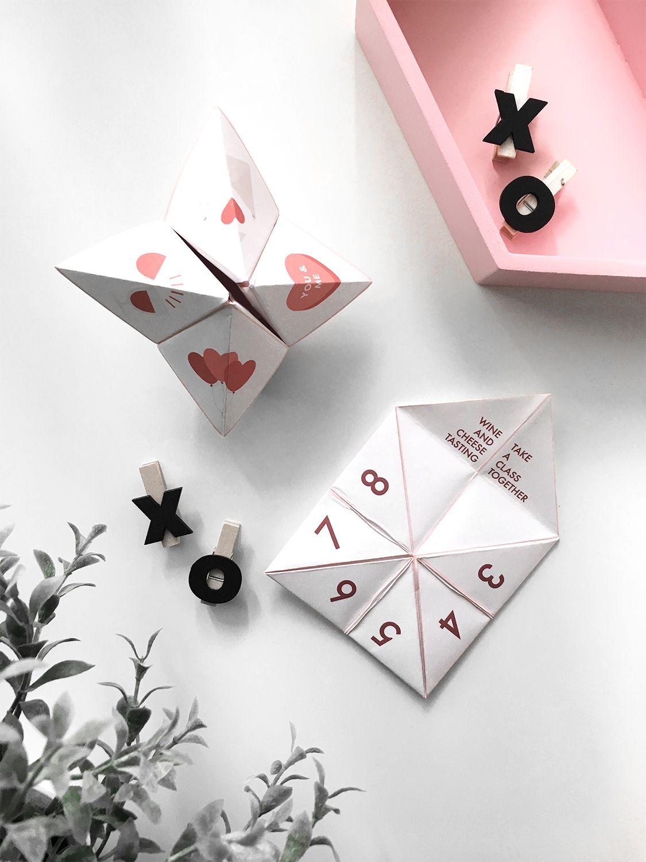 Valentine S Day Paper Fortune Teller Printable