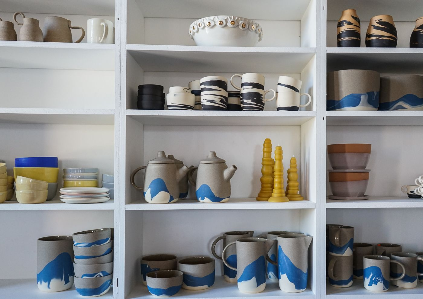 Helen Levi, handmade ceramics in Brooklyn. Read more http://www.theshopkeepers.com/helen-levi/
