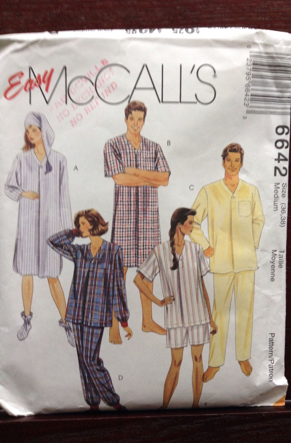 A personal favorite from my Etsy shop https://www.etsy.com/ca/listing/511307139/mccalls-unisex-nightgown-and-pajama