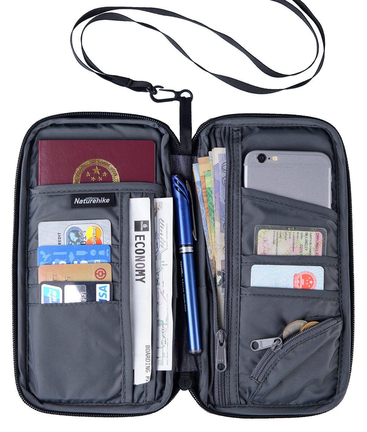 fd6eb03f950291 Naturehike Multifunctional Travel Wallet Passport Holder for Card Money  Ticket Mobile (Grey): Amazon.co.uk: Luggage