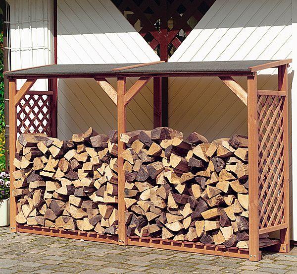Kaminholz Regal Erweiterung Brennholz Lagern Holz Garten Und