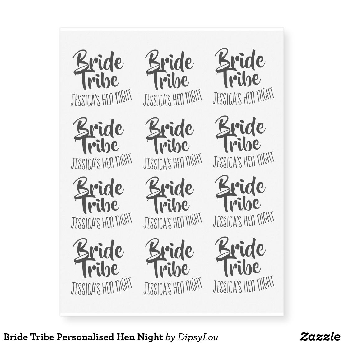 Bride Tribe Personalised Hen Night Temporary Tattoos Zazzle Com Bride Tribe Hens Night Bride Tribe Tattoo