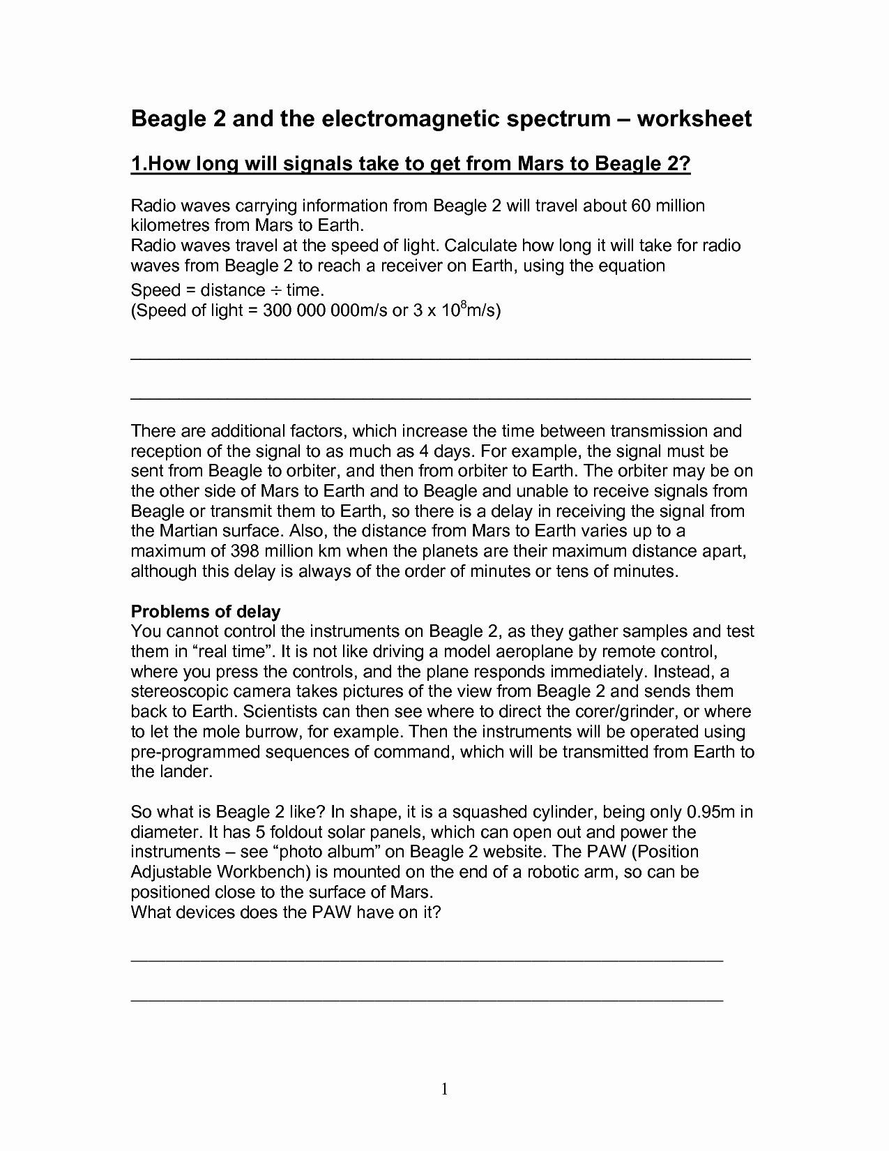 50 Electromagnetic Spectrum Worksheet High School In