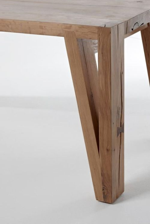 Wooden Table Diy Wood Legs Modern Bench