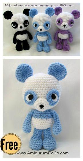 Adorable Panda Bear Amigurumi FREE Crochet Pattern | Häkeln