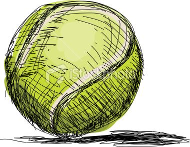 Hand Drawn Pen And Ink Style Drawing Of A Tennis Ball No Gradients Dessin Tennis Drawings Tennis Tennis Drawing