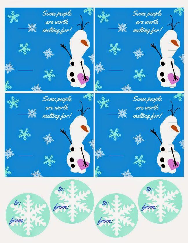 frozen olaf printable valentine  60 diy valentine ideas