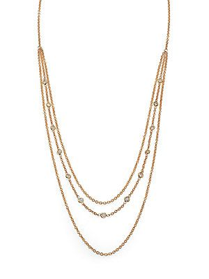 Jacquie Aiche Diamond & 14K Yellow Gold Belly Chain Necklace - Gol