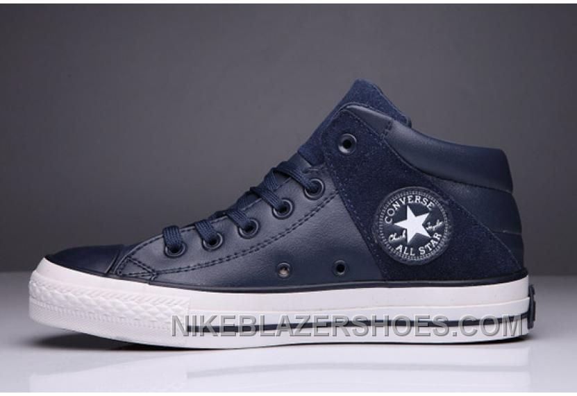 90db118d2a67 Blue CONVERSE Padded Collar All Star High Leather Terminator Genisys ...
