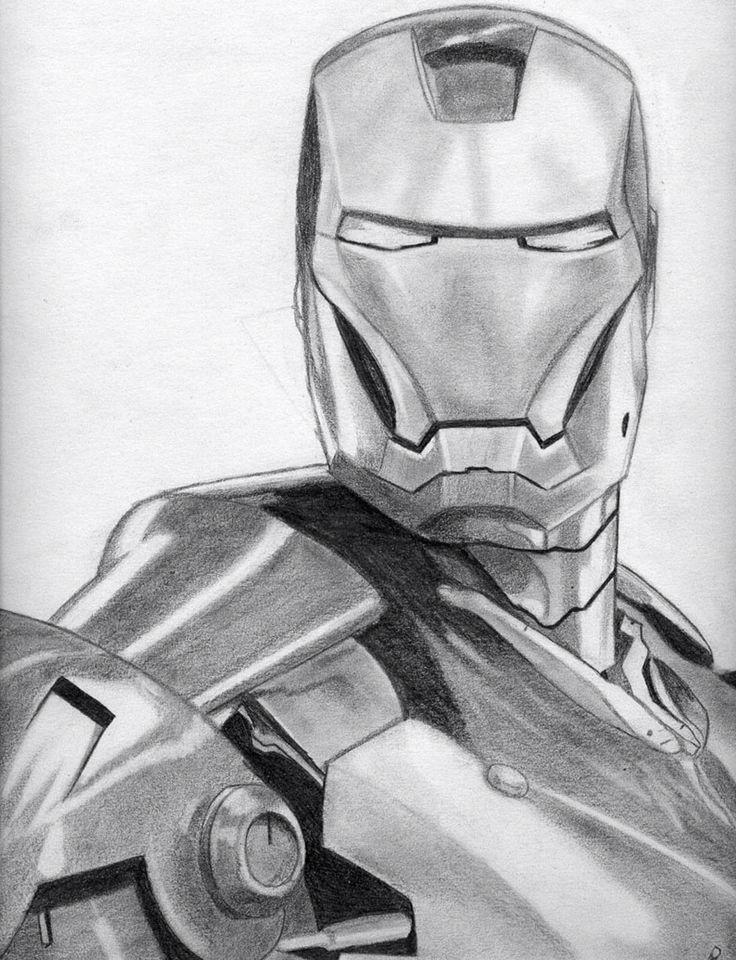 Iron Man Boceto Comic Comic Book Drawing Drawings Y Sketches