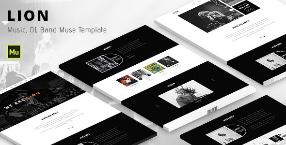 Lion - Music, DJ, Band Muse template - https://themekeeper.com/item ...