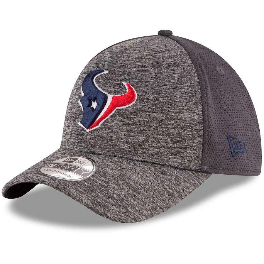 Men s Houston Texans New Era Heathered Gray Graphite Shadowed Team 39THIRTY  Flex Hat 00143887f443