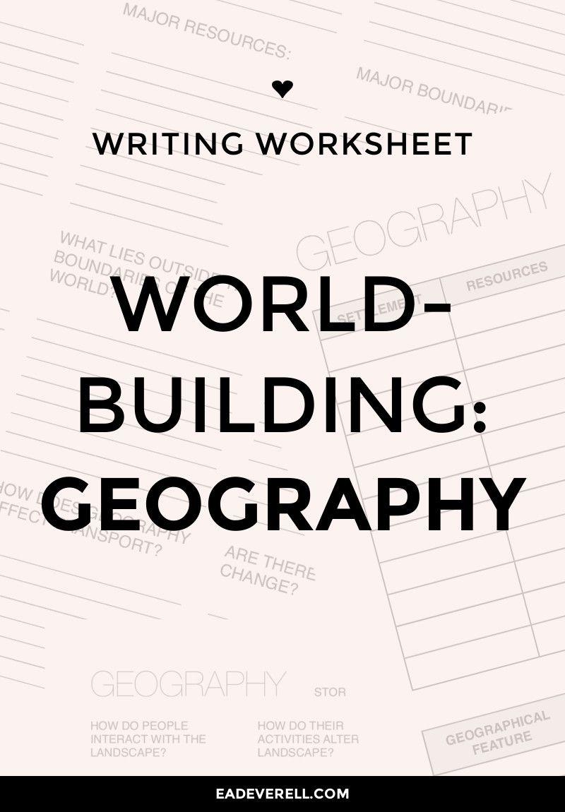Geography writing help