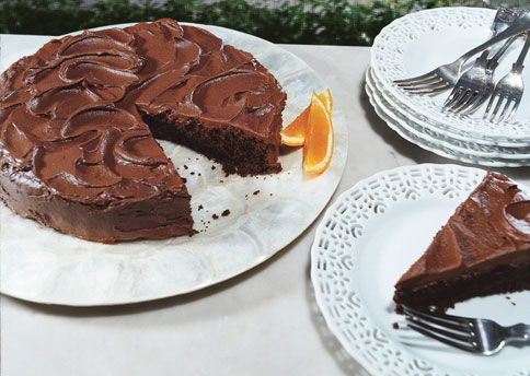 Chocolate Cake With Orange Frosting Recipe And