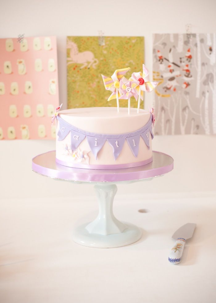 Cute cake at a Girls' Crafting Themed Birthday Party via Kara's Party Ideas KarasPartyIdeas.com #CraftParty #TweenParty #GirlParty #cake