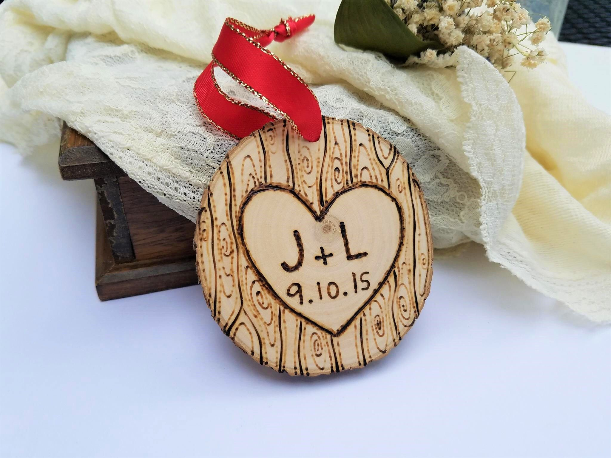 Couples ornament couples gift anniversary gift anniversary
