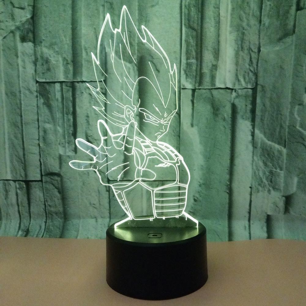 Vegeta Lampe 3d Lamp Dragon Ball 3d Lamp