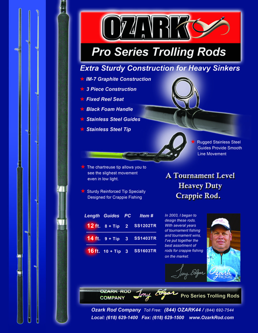 ProSeries Trolling Rods OZARK ROD COMPANY | Crappie Fishing Rods