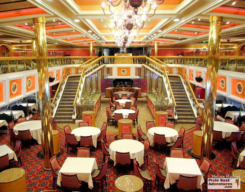Carnival Valor - Lincoln dining room.  Decks 3 & 4 midship.  Melissa, Travel Designer & Destination Specialist - Pixie Dust Adventures www.PixieDustAdventures.com