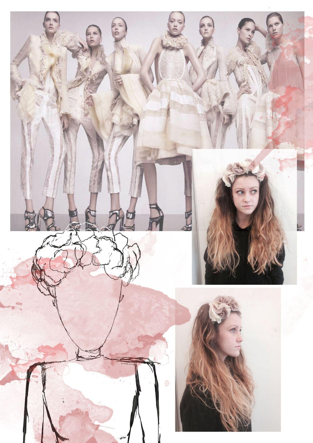 Fashion Sketchbook Research, Fashion Drawings & Design Development