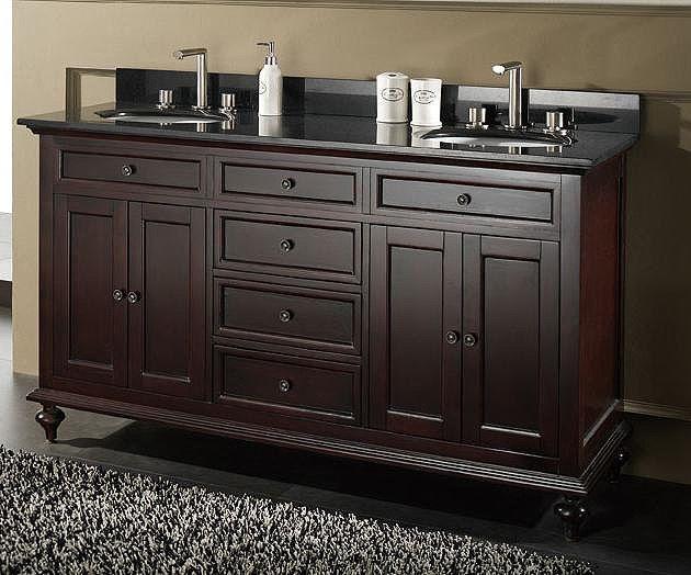 merlot traditional double sink bathroom vanity vs60-es