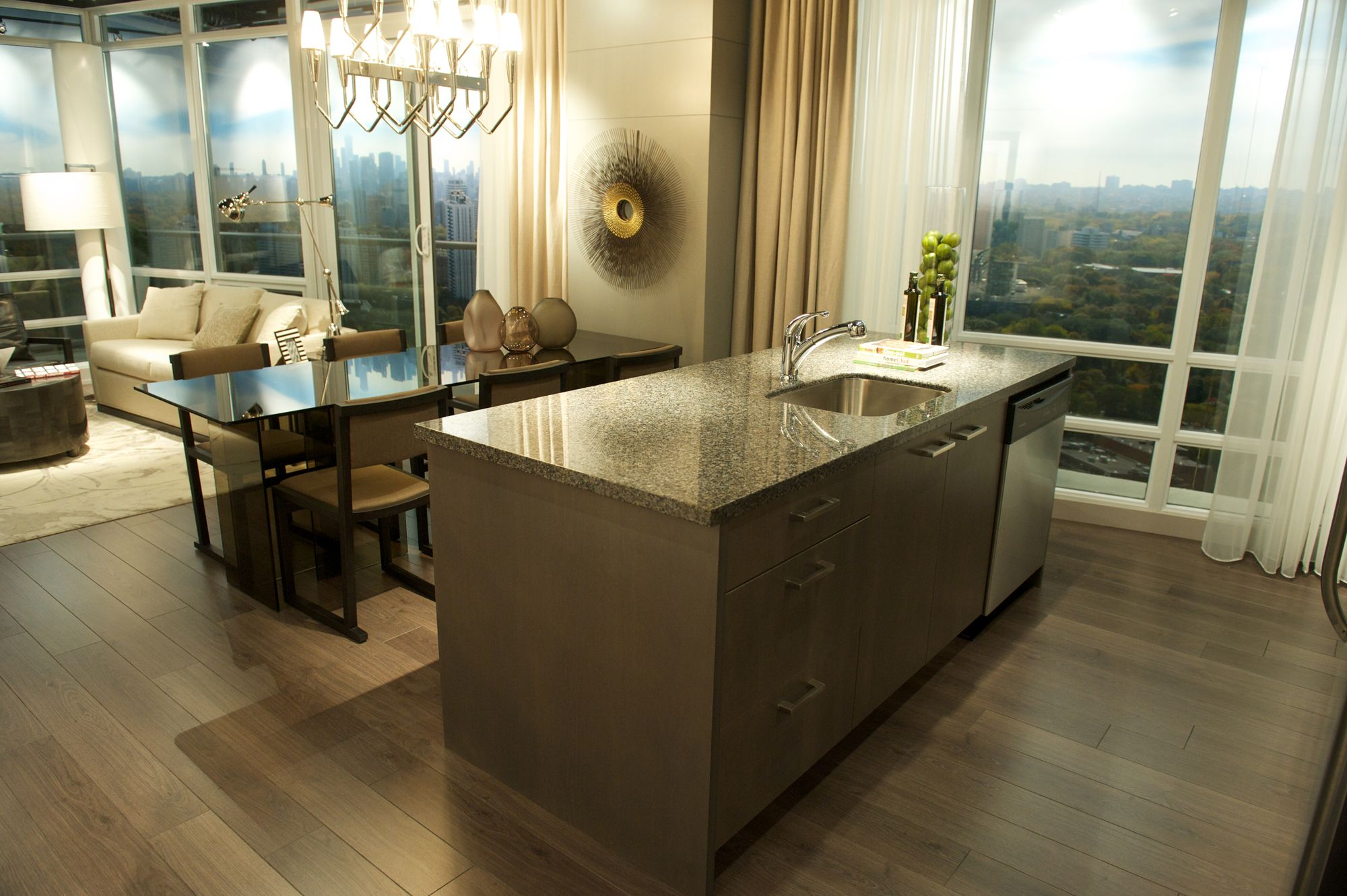 New Caledonia Granite Kitchen in the Sky Madison Homes ...