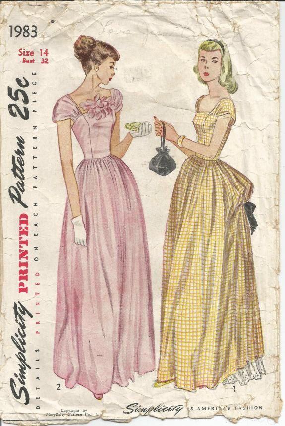 Pin de Jess D. H. en 1940s does Victorian | Pinterest | Vestidos ...