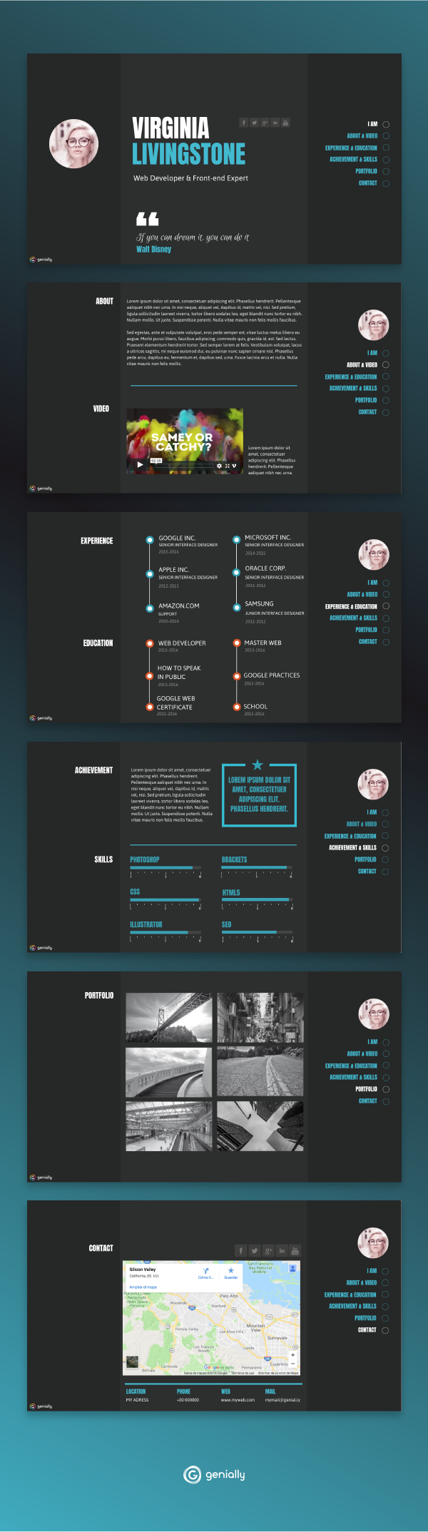 A Modern Curriculum Vitae Layout Curriculum Template Design