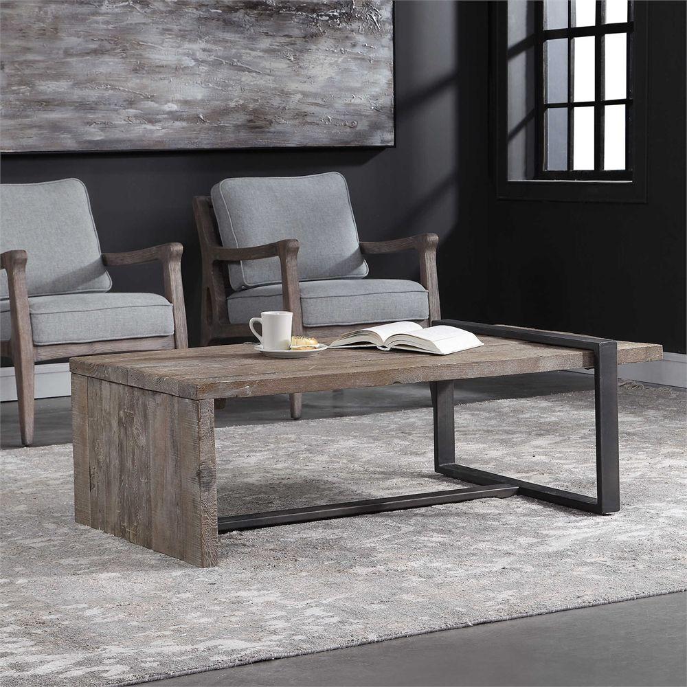 Uttermost genero coffee table mi amor in 2019 for Muebles industriales metal baratos