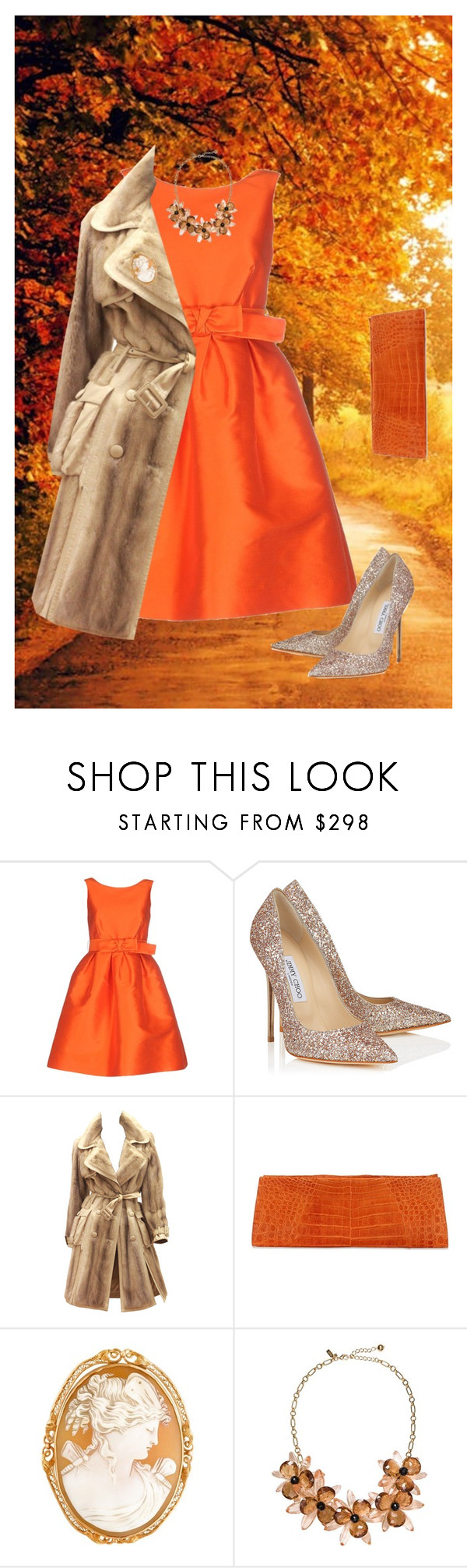 """Untitled #624"" by amchavesj-1 ❤ liked on Polyvore featuring P.A.R.O.S.H., Jimmy Choo, John Galliano, Anne Sisteron, Kate Spade and camelcoat"