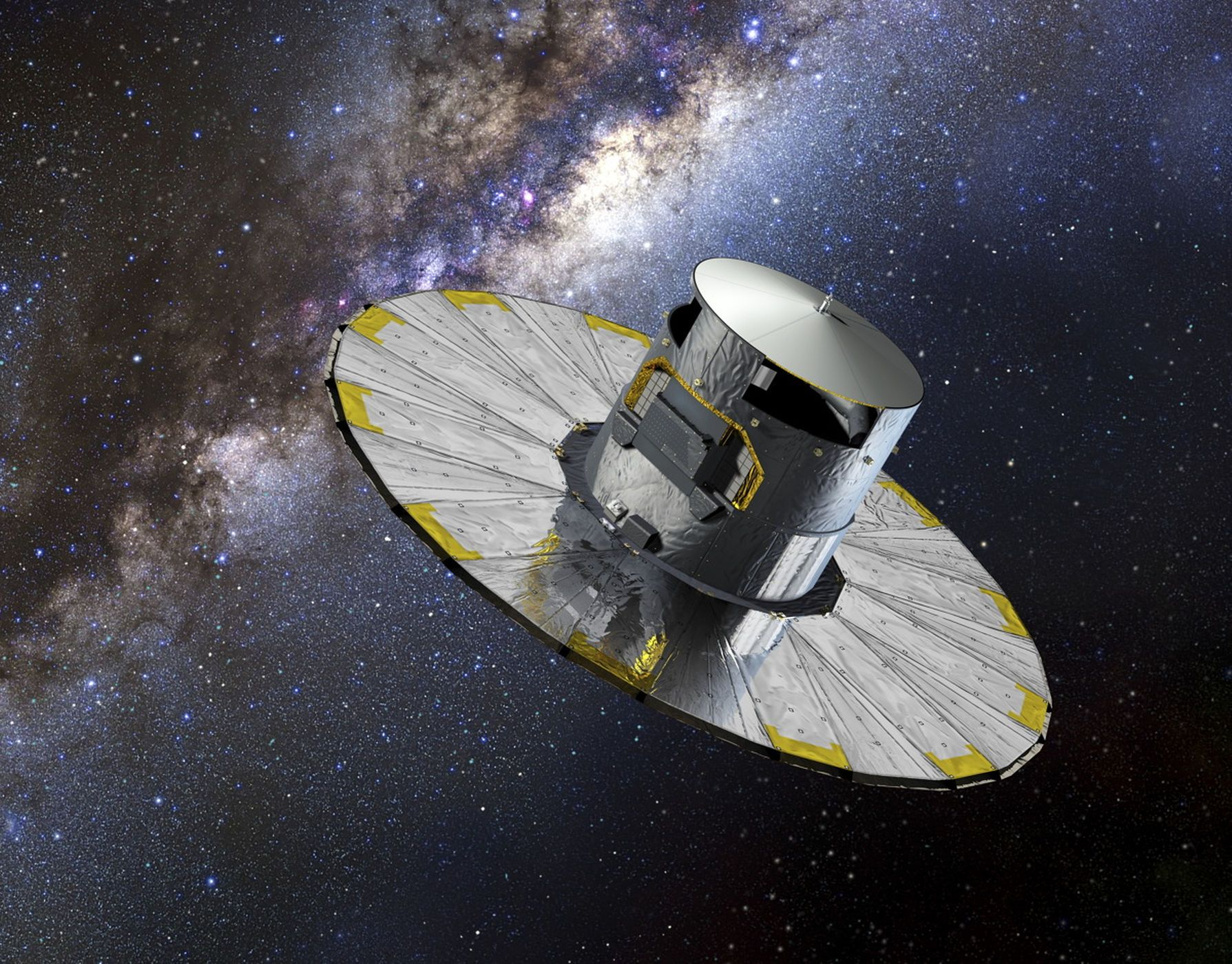 See photos and images from the European Space Agency's Gaia mission to map the Milky Way galaxy.