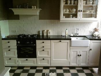 Ongebruikt Zwart wit geblokte vloer - Geblokte vloeren, Keuken ideeën en Vloeren YJ-15