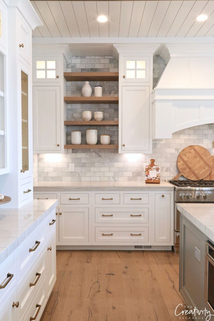 Modern European Meets Farmhouse Dream Kitchen #modernfarmhousestyle