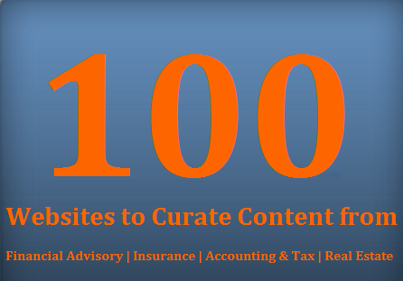 100 sites to curate content from in financial services ecosystem >> http://blog.investmentpal.com/2277